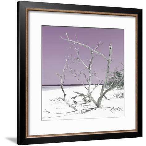 Cuba Fuerte Collection SQ - Tropical Beach Nature - Pastel Plum-Philippe Hugonnard-Framed Art Print