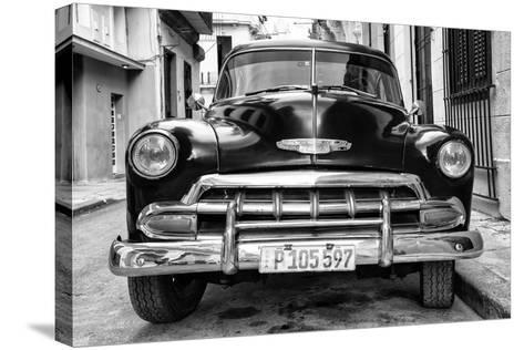 Cuba Fuerte Collection B&W - Old Classic Chevy III-Philippe Hugonnard-Stretched Canvas Print