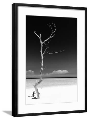 Cuba Fuerte Collection B&W - White Beach II-Philippe Hugonnard-Framed Art Print