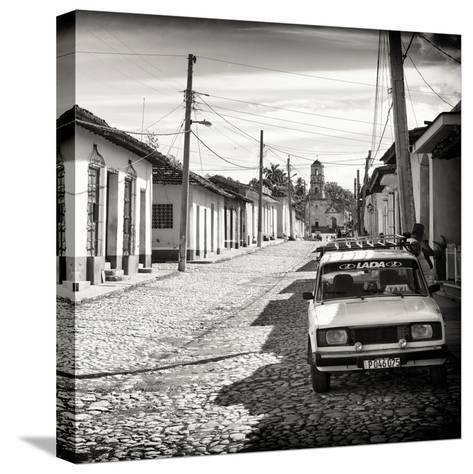 Cuba Fuerte Collection SQ BW - Cuban Street Scene in Trinidad-Philippe Hugonnard-Stretched Canvas Print