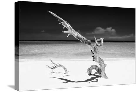 Cuba Fuerte Collection B&W - White Beach III-Philippe Hugonnard-Stretched Canvas Print