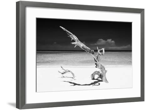 Cuba Fuerte Collection B&W - White Beach III-Philippe Hugonnard-Framed Art Print