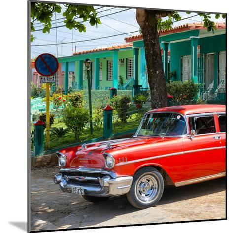Cuba Fuerte Collection SQ - Red Classic Car in Vinales-Philippe Hugonnard-Mounted Photographic Print