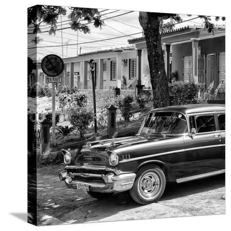 Cuba Fuerte Collection SQ BW - Classic Car in Vinales II-Philippe Hugonnard-Stretched Canvas Print