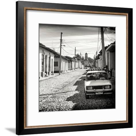 Cuba Fuerte Collection SQ BW - Cuban Street Scene in Trinidad-Philippe Hugonnard-Framed Art Print