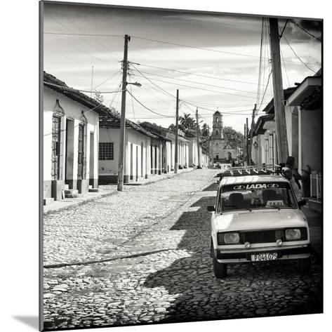 Cuba Fuerte Collection SQ BW - Cuban Street Scene in Trinidad-Philippe Hugonnard-Mounted Photographic Print
