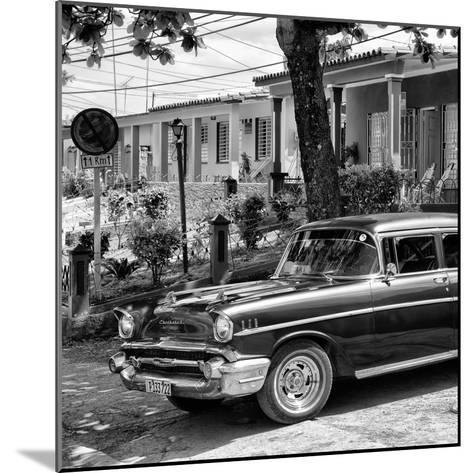 Cuba Fuerte Collection SQ BW - Classic Car in Vinales II-Philippe Hugonnard-Mounted Photographic Print