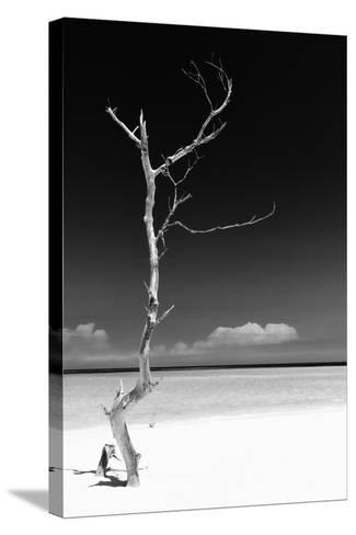 Cuba Fuerte Collection B&W - White Beach II-Philippe Hugonnard-Stretched Canvas Print