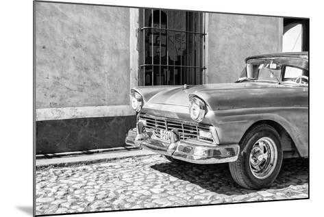 Cuba Fuerte Collection B&W - American Classic Car in Trinidad V-Philippe Hugonnard-Mounted Photographic Print