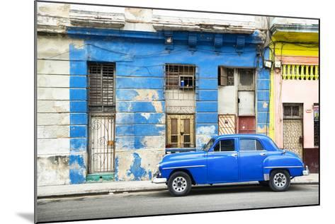 Cuba Fuerte Collection - Blue Vintage American Car in Havana-Philippe Hugonnard-Mounted Photographic Print