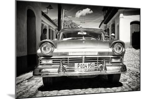 Cuba Fuerte Collection B&W - American Classic Car in Trinidad VI-Philippe Hugonnard-Mounted Photographic Print