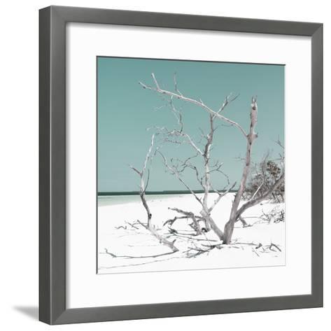 Cuba Fuerte Collection SQ - Tropical Beach Nature - Pastel Coral Green-Philippe Hugonnard-Framed Art Print