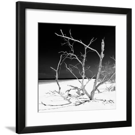 Cuba Fuerte Collection SQ BW - Tropical Beach Nature-Philippe Hugonnard-Framed Art Print