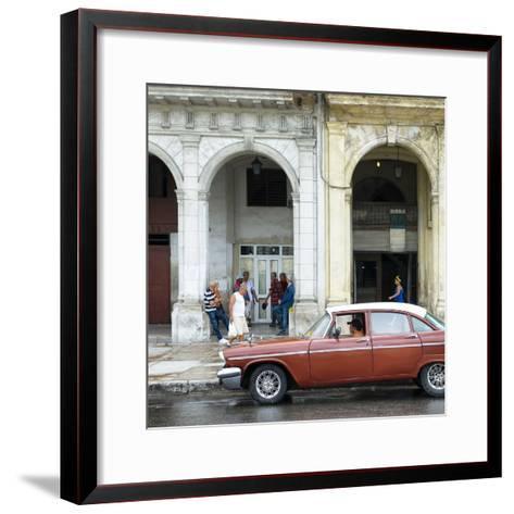 Cuba Fuerte Collection SQ - Havana Street Scene-Philippe Hugonnard-Framed Art Print