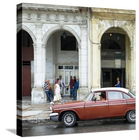 Cuba Fuerte Collection SQ - Havana Street Scene-Philippe Hugonnard-Stretched Canvas Print