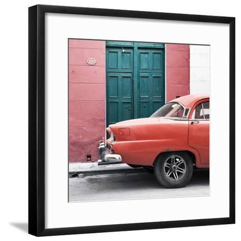 Cuba Fuerte Collection SQ - Havana 109 Street Orange-Philippe Hugonnard-Framed Art Print