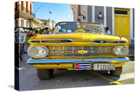 Cuba Fuerte Collection - Yellow Cuban Taxi-Philippe Hugonnard-Stretched Canvas Print