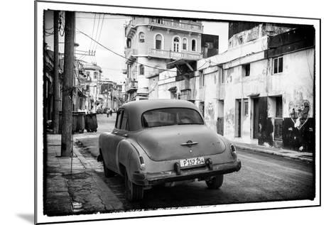 Cuba Fuerte Collection B&W - Old Car in the Streets of Havana III-Philippe Hugonnard-Mounted Photographic Print