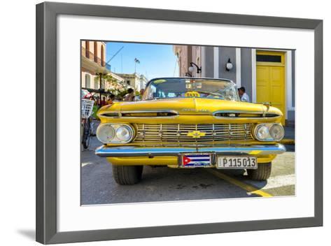 Cuba Fuerte Collection - Yellow Cuban Taxi-Philippe Hugonnard-Framed Art Print