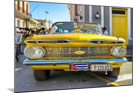 Cuba Fuerte Collection - Yellow Cuban Taxi-Philippe Hugonnard-Mounted Photographic Print