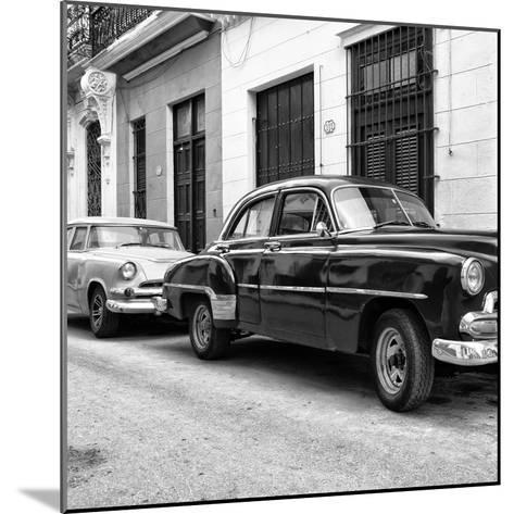 Cuba Fuerte Collection SQ BW - Two Classic Cars-Philippe Hugonnard-Mounted Photographic Print
