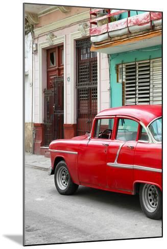Cuba Fuerte Collection - Vintage Cuban Red Car-Philippe Hugonnard-Mounted Photographic Print