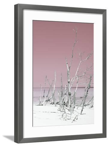 Cuba Fuerte Collection - Wild White Sand Beach III - Pastel Pink-Philippe Hugonnard-Framed Art Print