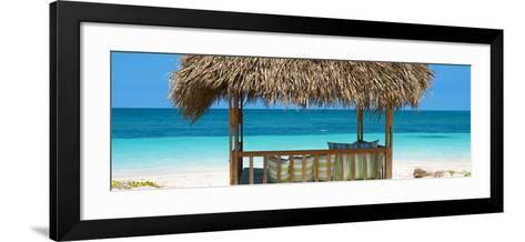 Cuba Fuerte Collection Panoramic - Beach Hut II-Philippe Hugonnard-Framed Art Print