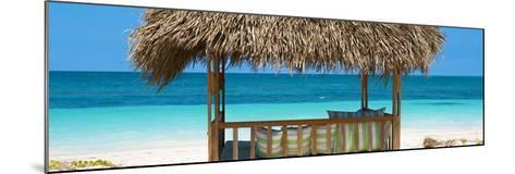 Cuba Fuerte Collection Panoramic - Beach Hut II-Philippe Hugonnard-Mounted Photographic Print