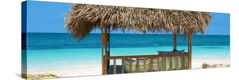 Cuba Fuerte Collection Panoramic - Beach Hut II-Philippe Hugonnard-Stretched Canvas Print