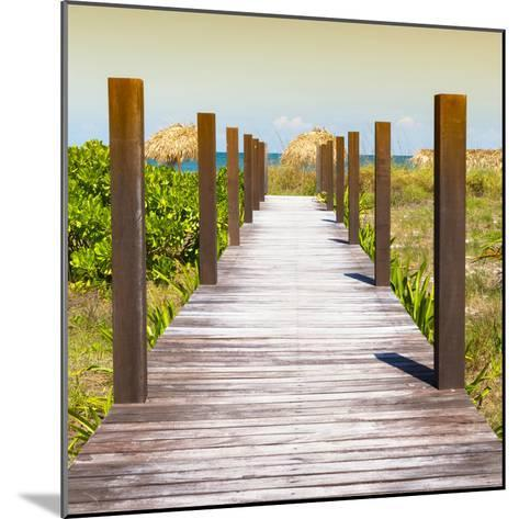 Cuba Fuerte Collection SQ - Boardwalk on the Beach at Sunset-Philippe Hugonnard-Mounted Photographic Print
