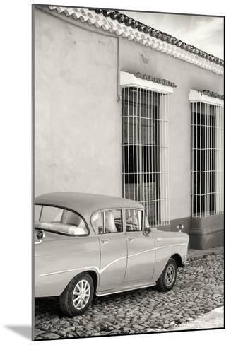 Cuba Fuerte Collection B&W - Classic Car in Sancti Spiritus-Philippe Hugonnard-Mounted Photographic Print