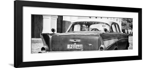 Cuba Fuerte Collection Panoramic BW - Cuban Classic Car-Philippe Hugonnard-Framed Art Print