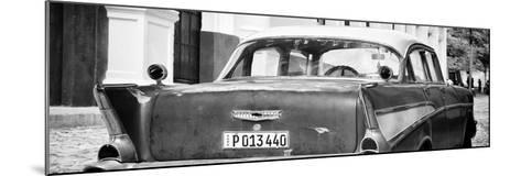 Cuba Fuerte Collection Panoramic BW - Cuban Classic Car-Philippe Hugonnard-Mounted Photographic Print
