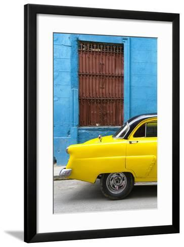 Cuba Fuerte Collection - Close-up of Yellow Taxi of Havana-Philippe Hugonnard-Framed Art Print