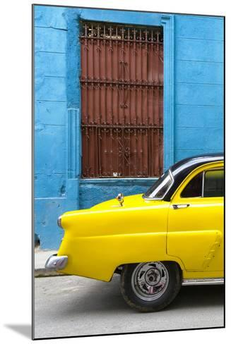 Cuba Fuerte Collection - Close-up of Yellow Taxi of Havana-Philippe Hugonnard-Mounted Photographic Print