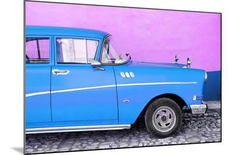 Cuba Fuerte Collection - Close-up of Retro Blue Car-Philippe Hugonnard-Mounted Photographic Print