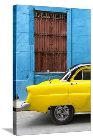 Cuba Fuerte Collection - Close-up of Yellow Taxi of Havana-Philippe Hugonnard-Stretched Canvas Print