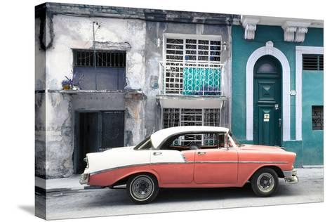 Cuba Fuerte Collection - Coral Classic Car in Havana-Philippe Hugonnard-Stretched Canvas Print