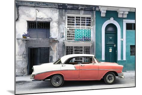 Cuba Fuerte Collection - Coral Classic Car in Havana-Philippe Hugonnard-Mounted Photographic Print