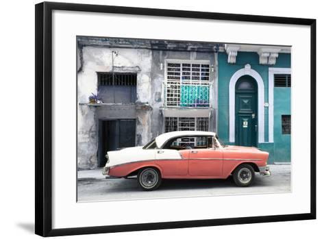 Cuba Fuerte Collection - Coral Classic Car in Havana-Philippe Hugonnard-Framed Art Print