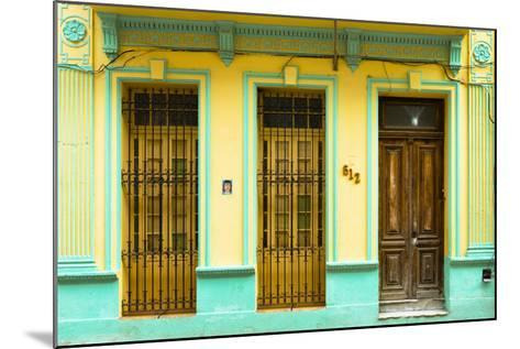 Cuba Fuerte Collection - 612 Street Havana - Yellow and Green-Philippe Hugonnard-Mounted Photographic Print