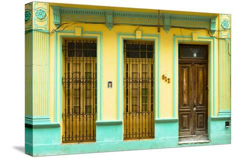 Cuba Fuerte Collection - 612 Street Havana - Yellow and Green-Philippe Hugonnard-Stretched Canvas Print