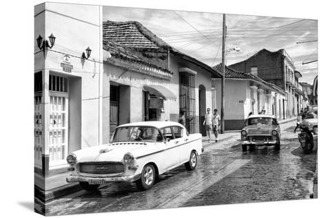 Cuba Fuerte Collection B&W - 321 Carmen Cervera - Street Scene II-Philippe Hugonnard-Stretched Canvas Print