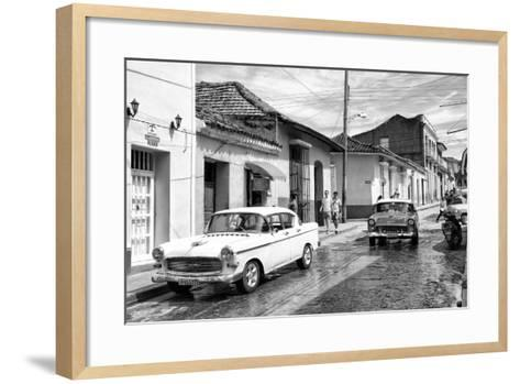 Cuba Fuerte Collection B&W - 321 Carmen Cervera - Street Scene II-Philippe Hugonnard-Framed Art Print