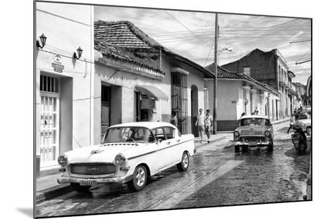 Cuba Fuerte Collection B&W - 321 Carmen Cervera - Street Scene II-Philippe Hugonnard-Mounted Photographic Print