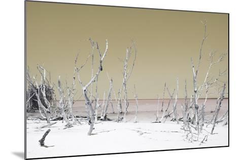 Cuba Fuerte Collection - Wild White Sand Beach - Pastel Dark Yellow-Philippe Hugonnard-Mounted Photographic Print