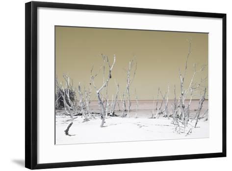 Cuba Fuerte Collection - Wild White Sand Beach - Pastel Dark Yellow-Philippe Hugonnard-Framed Art Print
