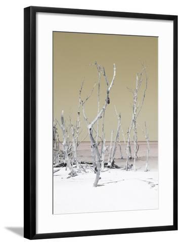 Cuba Fuerte Collection - Wild White Sand Beach II - Pastel Dark Yellow-Philippe Hugonnard-Framed Art Print