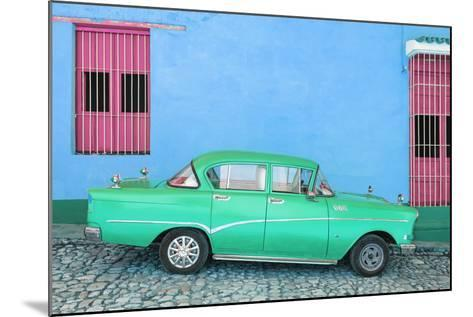 Cuba Fuerte Collection - Green Classic Car in Trinidad-Philippe Hugonnard-Mounted Photographic Print